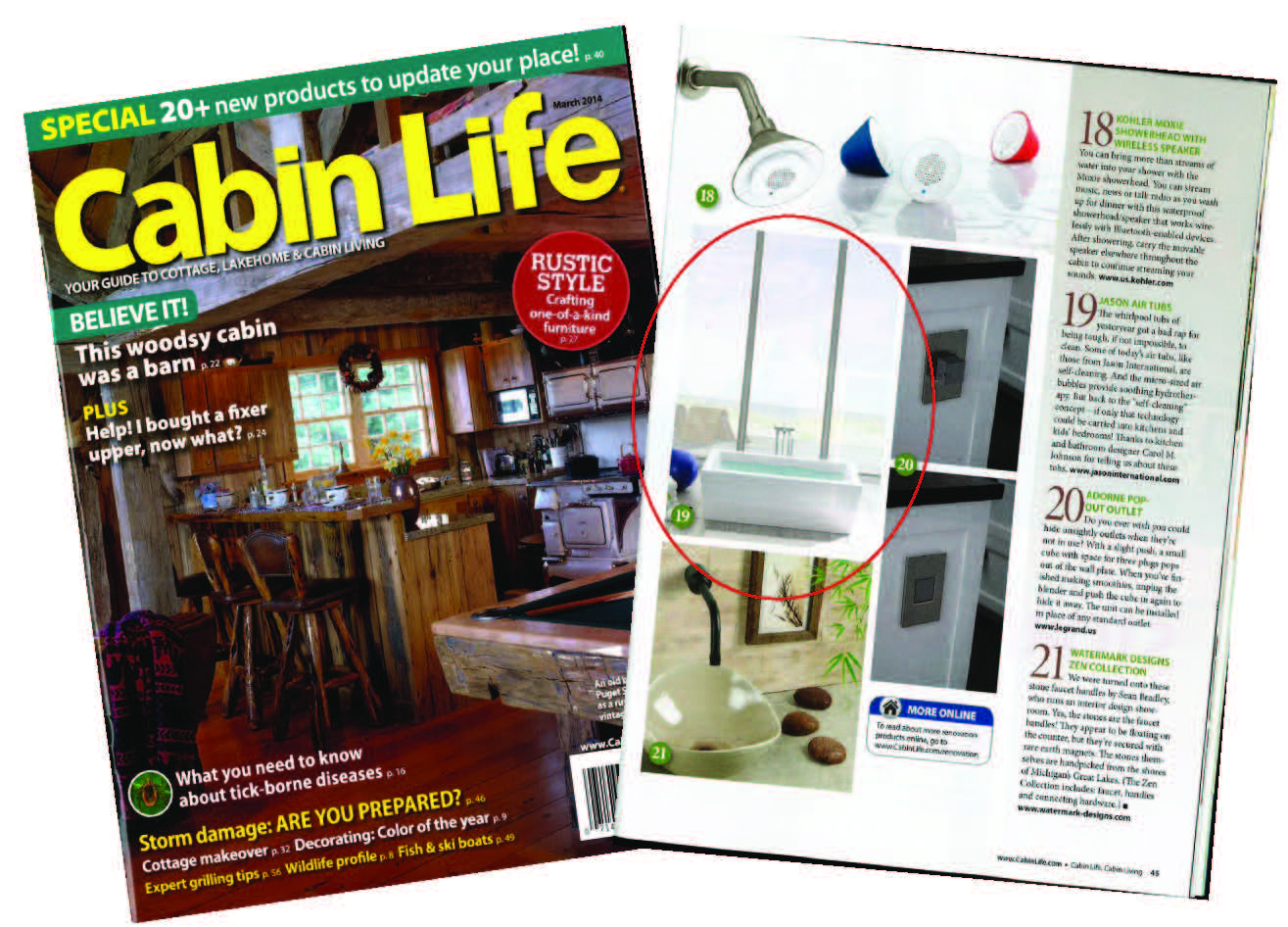 august life cabin cover cabins magazine discountmags issue com digital living